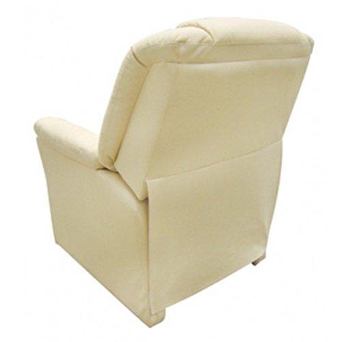vida XL Massagesessel Fernsehsessel Relaxsessel Massage+Heizung TV Sessel CREME - 5
