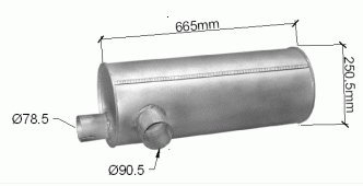 ets-exhaust-8018-silencioso-pour-45-hp-leyland-daf-45-road-runner-hp