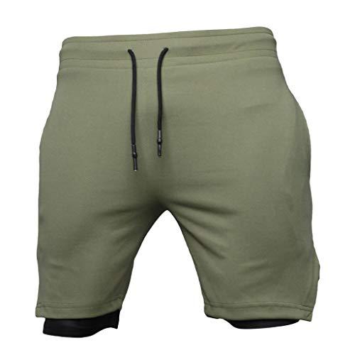 UJUNAOR Mode Herren Jogging Hosen Sommer Sport Fitness Casual Einfarbig Schwimmen Shorts Bermudas(Medium,Armeegrün)