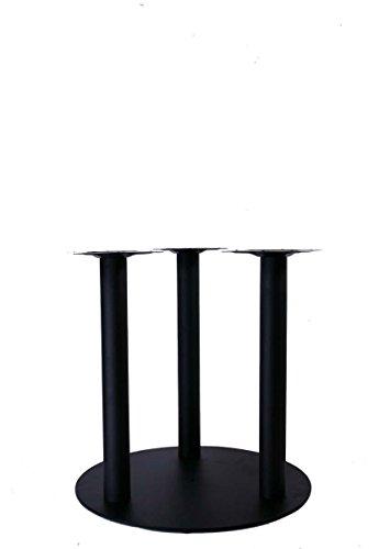 """Tischgestell Höhe 72 cm, Tischfuß, schwarzes Gestell, 3 Tischbeine, runder Fuß, Modell\""""Augsburg\"""""""