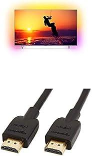 Philips 65PUS8102/12 164 cm (65 Zoll) LED-Fernseher (Ambilight, 4K Ultra HD, Smart TV) mit AmazonBasics HDMI-K