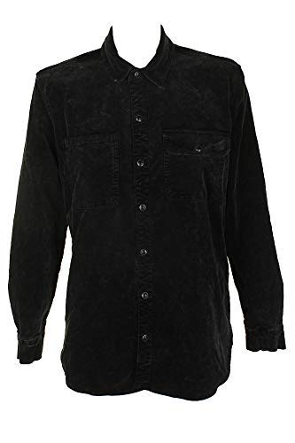 Lucky Brand Womens Velour Jacket Button-Down Top Black XL -