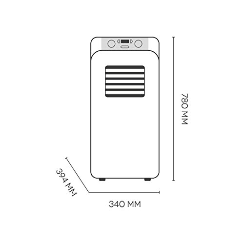 argoclima Relax Mobiles Klimagerät A 10.000BTU, Display LED und digitaler Bedienfeld - 6