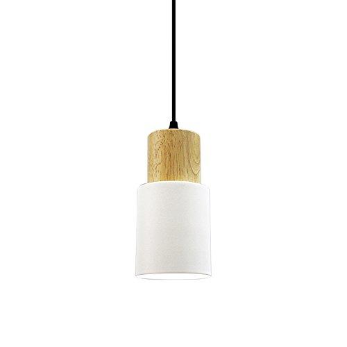 Nordic Kronleuchter Persönlichkeit Schlafzimmer Nachttischlampe einzigen Kopf modernen minimalistischen kreative Restaurant Bar Macarons Log Kronleuchter (Color : Weiß) -