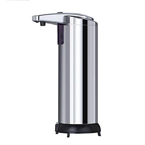 YZCX Soap Dispenser 250ml Dispensador de Jabón Automático, Dispensador de Líquidos, Dispensador Automático de Jabón de Acero Inoxidable (Plata