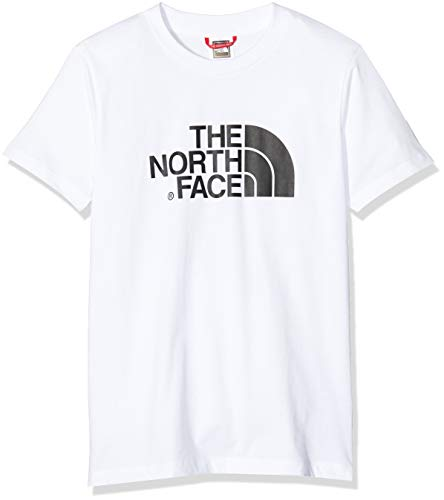 THE NORTH FACE Kinder Y S/S Easy Tee, White/Black, S -