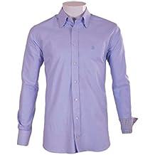 Pasión Morena 84PA010600804 Camisa, Hombre, Azul, ...