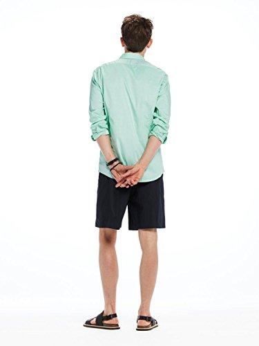 Scotch & Soda Herren Freizeithemd Classic Longsleeve Shirt in Oxford Quality Grün