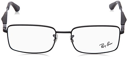 Ray Ban Optical Montures de lunettes RX6284 Pour Homme Gunmetal, 53mm 2503: Matte Black