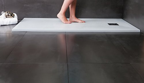 Preisvergleich Produktbild Designer Duschtasse - Mineralguss Duschtasse 90 x 140 - PIZARRA - Weiß