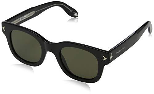 Givenchy gv 7037/s e4 y6c, occhiali da sole unisex-adulto, nero black crystal/brown, 47