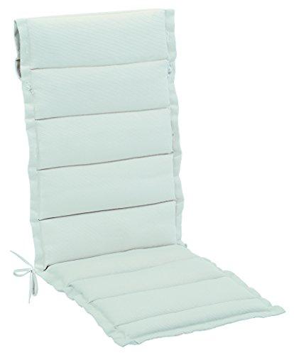 Balke Luxus Mittellehner Auflage Ahaus 54 Nebel, hell RIPS strukturiert, 110 x 50 cm