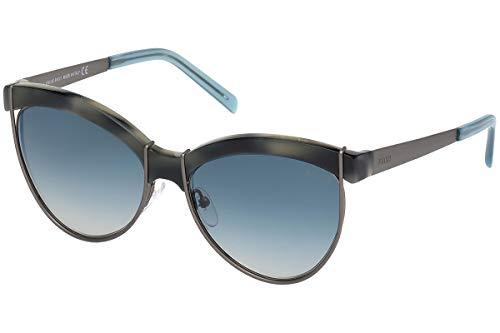 Emilio Pucci Unisex-Erwachsene EP0057 55W 57 Sonnenbrille, Braun (Avana Colorata/Blu Grad),