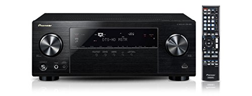 Pioneer VSX-830-K 5.2 Netzwerk-Mehrkanal Receiver (140 Watt Pro Kanal, WiFi, Bluetooth, Ultra-HD Video Scaler, HDCP 2.2, App Steuerung, Airplay, DLNA, Internetradio, Spotify Connect) - Netzwerk Av-receiver