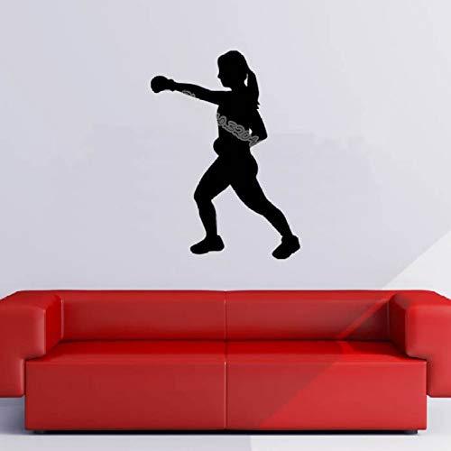 zqyjhkou Boxerin Boxen Sport Wandaufkleber Gym Sportlich Fitness Sport Dekor Ideen Innen Abnehmbare Design Aufkleber Tapete Eb244 56x78cm