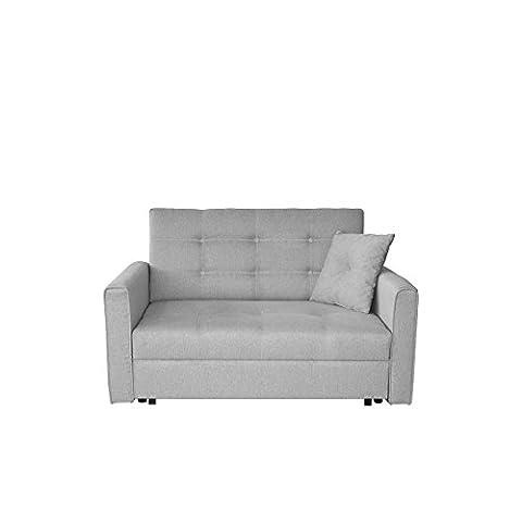 Sofa Viva Lux II mit Schlaffunktion, 2 Sitzer Polstersofa mit