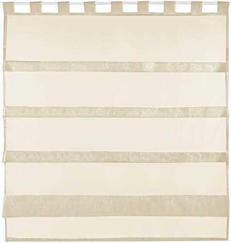 Tenda a pacchetto in voile, semplice e moderna, colore: trasparente, poliestere, beige - desnudo, 100 x 110 cm