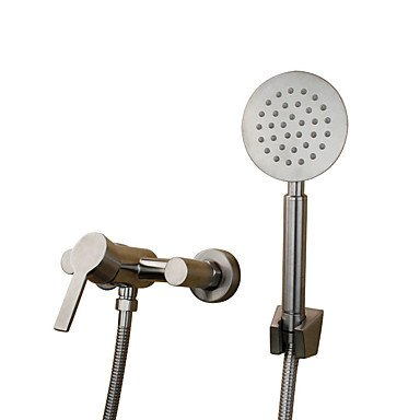 LISABOBO Traditional Art Deco/Retro Tub And Shower Widespread with Ceramic Valve Single Handle Two Holes for Stainless Steel , Bathtub