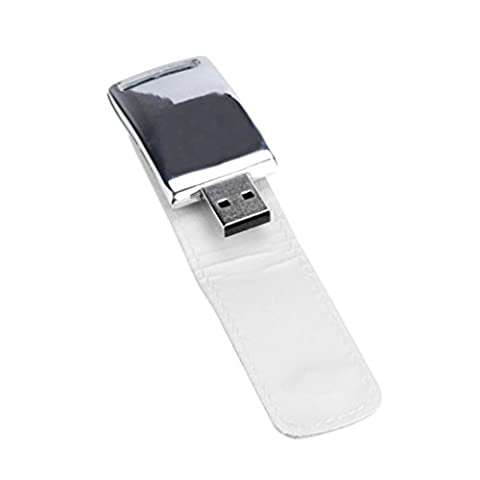 Bluestercool Clé USB 2 Go - 128 Go USB 2.0 Business cuir lecteur Flash mémoire Stick U-disque (4 Go, blanc)