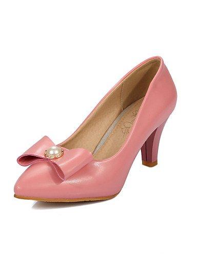 WSS 2016 Chaussures Femme-Bureau & Travail / Décontracté-Noir / Rose / Blanc / Beige-Talon Cône-Talons / Confort / Bout Pointu-Talons-Cuir Verni / black-us8 / eu39 / uk6 / cn39