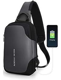 """MARK RYDEN Bolso del Bolso del Pecho de la Honda Anti-Theft para los Hombres Bolso del Hombro del Viaje de Crossbody Impermeable Adaptado para 9.7""""iPad …"""