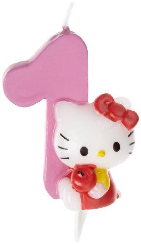 Dekoback 02-08-00168 - Vela para Tartas con número 1, diseño de Hello Kitty