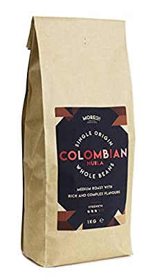 Moreish - Colombian Huila - Single Origin Coffee Beans - 1kg from The Brew Group trading as Caffe Society