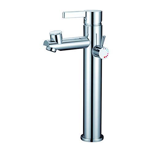JONTON Mundwasser, das heißes und kaltes des Kupfers küsst, Plus hoher Fußdoppelwassertabellenwaschbeckenhahnbadezimmer
