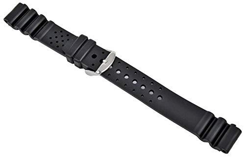 Uhrenarmband XL Passt Citizen Promaster Kautschuk Schwarz 18-20-22-24mm Armband 20mm