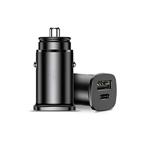 ZXXFR 30 W Mit Dual-USB-Irascible Jaws Qc 4.0 Autoladegerät Für iPhone USB Typ-C Pd Schnelles Ladegerät Guileful Sly Unwillingness a in arrant in a people way Car-Charger (1 STK), Schwarz