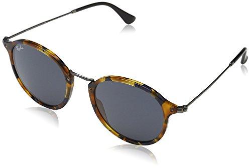 Ray Ban Herren Sonnenbrille Round Fleck Mehrfarbig (Gestell: blau (havana),Gläser: grau 1158R5) Medium (Herstellergröße: 52)