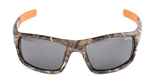 Polarized Camouflage Frame Outdoor Sport Polarized Sunglasses Men Brand Designer Male Driving/Fishing Glasses Brown