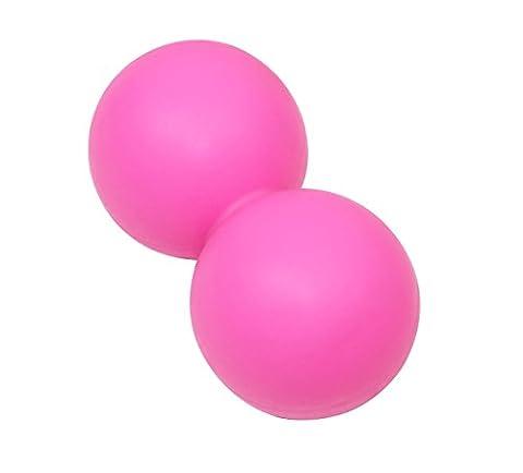 TAO Fascia Feste Kugel-Erdnuss-Entspannungsmassage Ball Länge: 4.9in Durchmesser: 2.6in,Pink