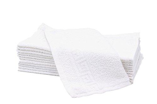 ZOLLNER® 12er Set Seiftücher / Seiflappen / Babytücher 30x30 cm in weiß, in weiteren Farben erhältlich, vom Hotelwäschespezialisten, Serie