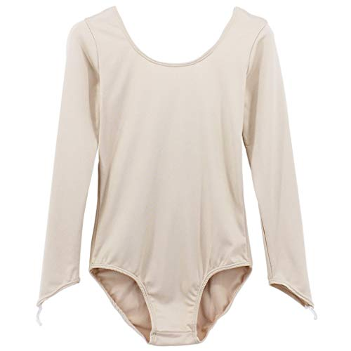 nge Ärmel U-Ausschnitt EIN Stück Bodysuit Dame Basic Stil Schlank Tanzkleidung Uniform Turnanzug Kostüm Geeignet zum Ballett Gymnastik Sport,Skin Color_A-S ()