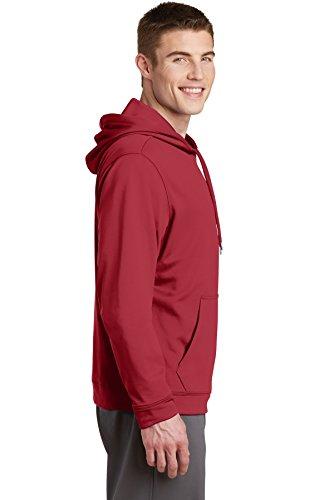 Sport-Tek da uomo sport-wick in pile Felpa con cappuccio Deep Red