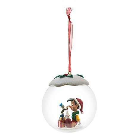 AU Pinocho y Pepito Grillo Bola, Oficial de Disney Adorno de Navidad