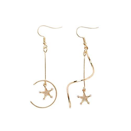 billty Ohrring Star Wave Spirale asymmetrisch Ohrringe Geometrische Nähte Pearl Ohrringe Ohr Clip RJ45