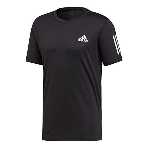 adidas Herren Club 3-Streifen T-Shirt, Black/White, 2XL (Tennis-shirt Adidas)