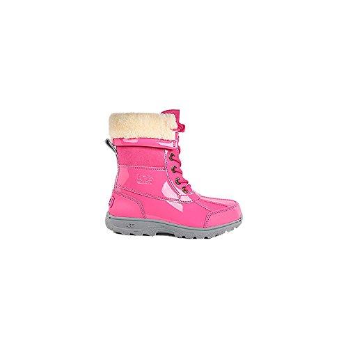 UGG Kids Unisex Butte II Patent (Little Kid/Big Kid) Boots Black