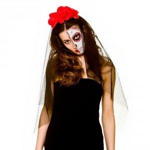Tag der Toten Veil (Toten Make Der Tag Kostüm Up)