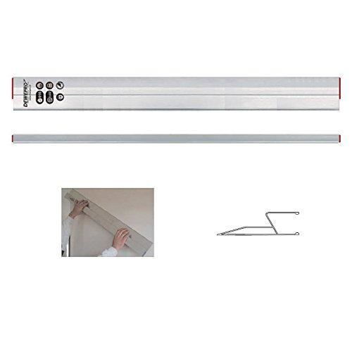 DEWEPRO® kombinierte Alu Trapez/HA- Kartätsche Kardätsche - Abziehlatte - Richtscheit - Aluminium - Alulatte - Länge: 180cm / 1,8m