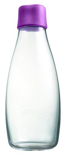 Retap Wasserflasche 05, Glas, Glas, Violett, 8x8x19 cm (05 Violett)