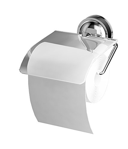 Bathla Suction Stainless Steel Toilet Paper Holder / Rack (Silver)- With Twist Lock Technology for Instant Installation
