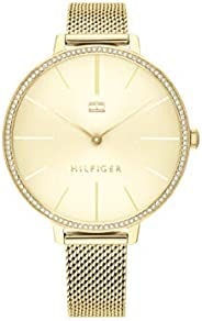 Tommy Hilfiger Women'S Champagne Dial Ionic Thin Gold Plated 2 Steel Watch - 178