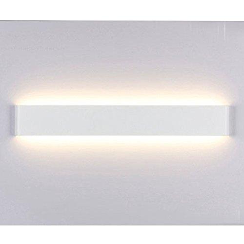 Wand Lampe - kreative moderne minimalistische Aluminium LED Nachtlicht Lampe für Flur, Treppenhaus, Wohnzimmer, Esszimmer, Schlafzimmer (Weiß&Warmes weißes Licht)