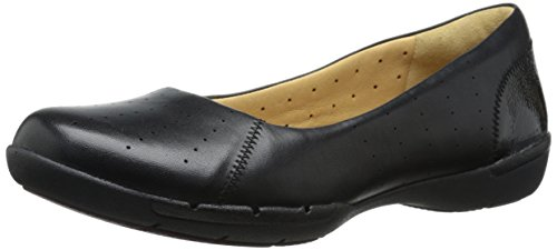 Clarks Un foyer plat Black Leather