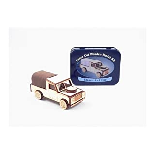 Gift in a Tin Laser Cut Wooden Model Kit - CLassic 4 x 4 Car by Apples to Pears by Gift in a Tin