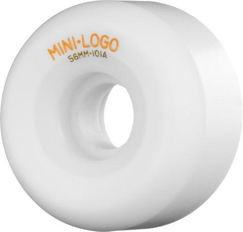 Mini-Logo Skateboards A-56mm 101a Skateboard Rad, weiß