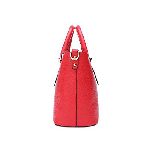 Borsa Tracolla Messenger Bag Immagine Femminile Ad Alta Capacità Semplice Retrò,Green red